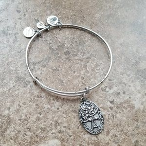Alex and ani friend silver bracelet